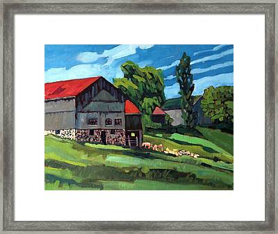 Barn Roofs Framed Print by Phil Chadwick