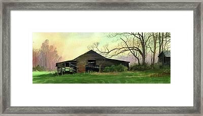 Barn Framed Print by Sergey Zhiboedov