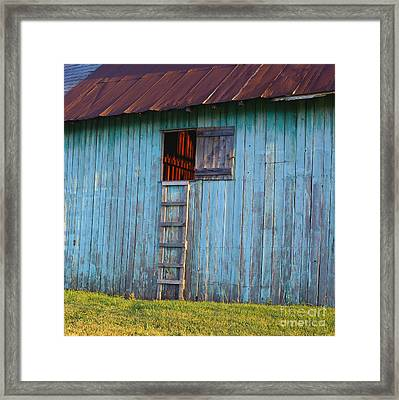 Barn Shadows. Vermont Framed Print by George Robinson