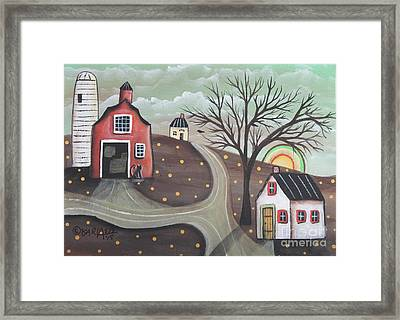 Barn Silo Framed Print by Karla Gerard