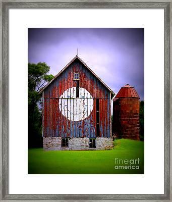 Barn Smile Framed Print