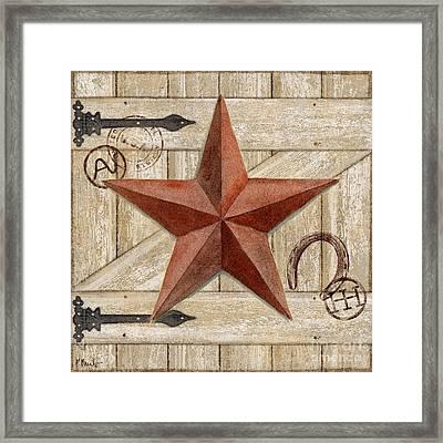 Barn Star I Framed Print