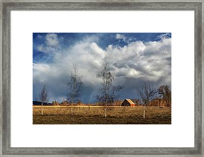 Framed Print featuring the photograph Barn Storm by James Eddy
