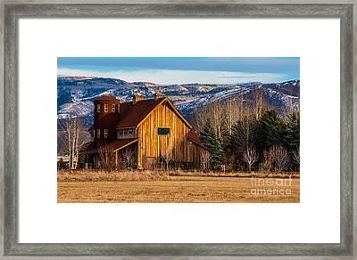 Barn Style Home - Heber - Utah Framed Print by Gary Whitton