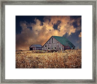 Barn Surrounded With Beauty Framed Print by Kathy M Krause