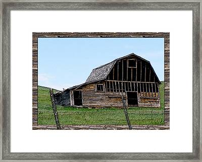Framed Print featuring the photograph Barn by Susan Kinney
