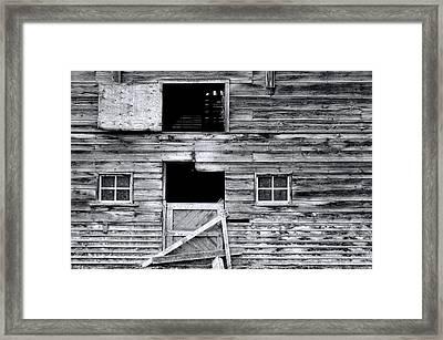 Barn Texture Framed Print by Wayne Sherriff