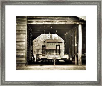 Barn Through A Barn Framed Print by Andrew Crispi