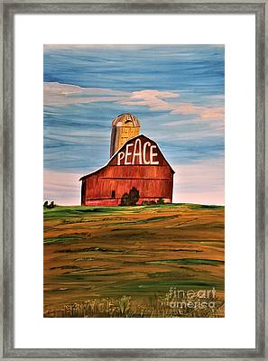 Barn Virtues 1 Framed Print by Barbara Donovan