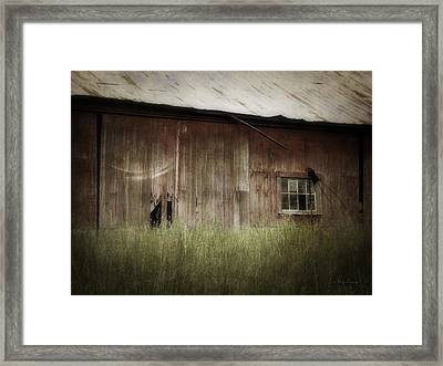 Barn West Framed Print