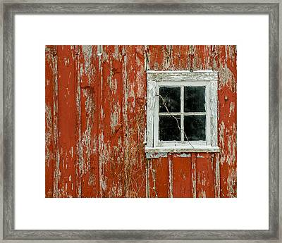Framed Print featuring the photograph Barn Window by Dan Traun