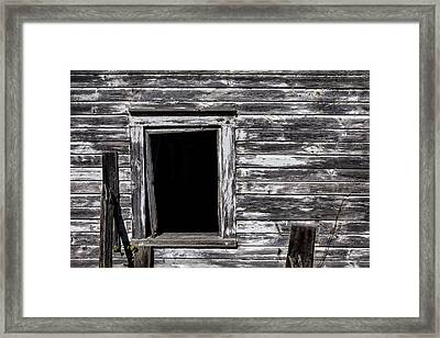 Barn Window Framed Print by Garry Gay