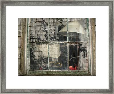 Barn Window Nantucket Framed Print