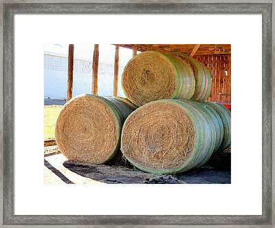 Barn With Hay 3 Framed Print by Lanjee Chee