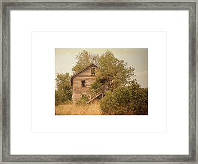 Barn Wood Homestead Framed Print by Hal Newhouser