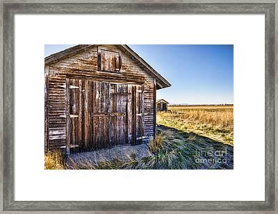 Barn Wood Framed Print by Keith Ducker