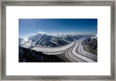 Barnard Glacier Alaska Framed Print