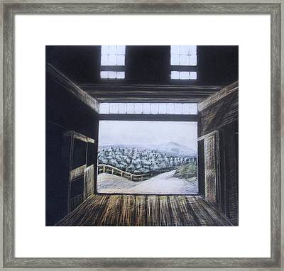 Barndoor View Framed Print by Grace Keown