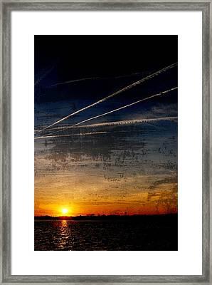 Barnegat Bay Sunset - Jersey Shore Framed Print by Angie Tirado
