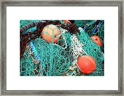 Framed Print featuring the photograph Barnegat Fishing Nets by John Rizzuto