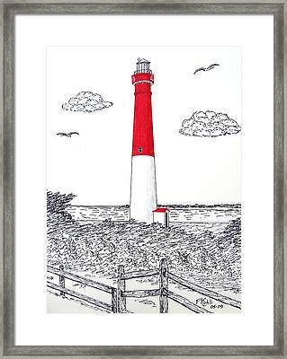 Barnegat Light Drawing Framed Print by Frederic Kohli