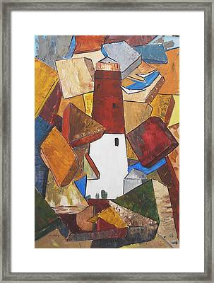 barnegat lighthouse I Framed Print
