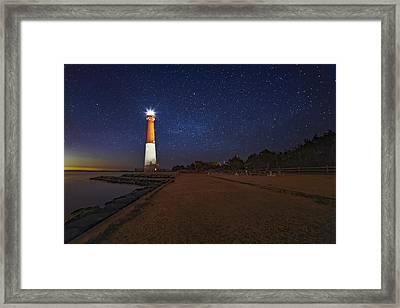 Barnegat Lighthouse Under The Stars Framed Print