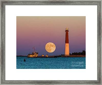 Barnegat Moon Framed Print by Nick Zelinsky