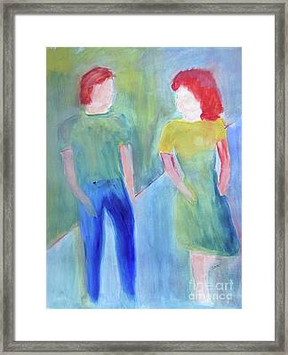 Framed Print featuring the painting Barney And Elizabeth by Sandy McIntire