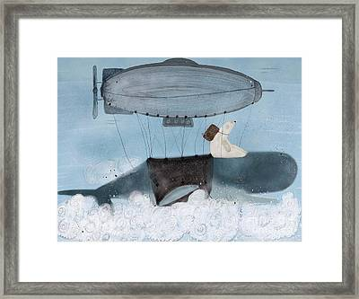 Framed Print featuring the painting Barney And The Whale by Bri B