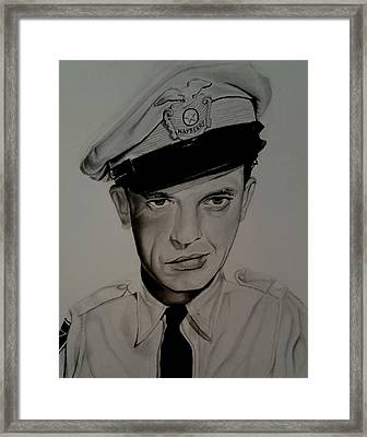 Barney Fife Framed Print by Brandon Treadaway