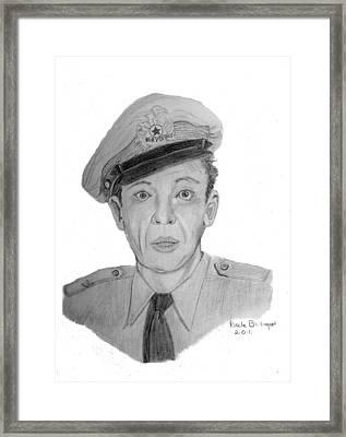 Barney Fife Framed Print by Dale Ballenger