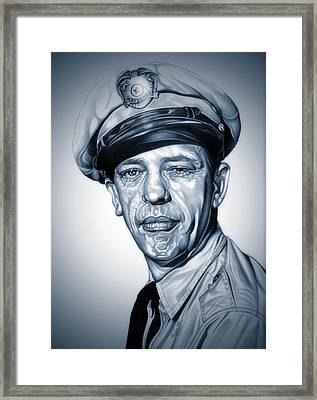 Barney Fife Framed Print by Fred Larucci