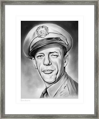 Barney Framed Print by Greg Joens