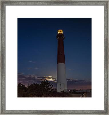 Barney At Moon Set Framed Print by Capt Gerry Hare