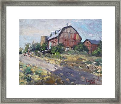 Barns In Georgetown Framed Print