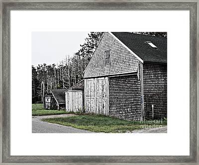 Barns Of Time Framed Print by Marcia Lee Jones