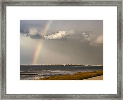 Barnstable Harbor Rainbow Framed Print by Charles Harden