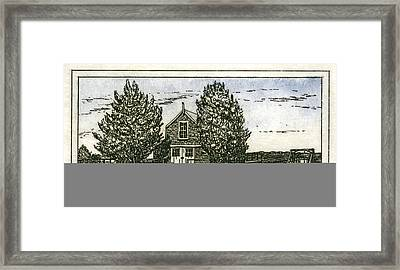 Framed Print featuring the mixed media Barnstable Yacht Club Etching by Charles Harden