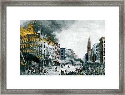 Barnums Museum Fire, 1865 Framed Print by Science Source