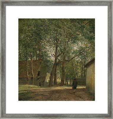 Barnyard  Framed Print by Andreas Schelfhout