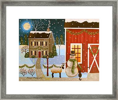 Barnyard Friends Framed Print