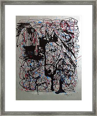 Framed Print featuring the painting Barnyard Horse by J R Seymour