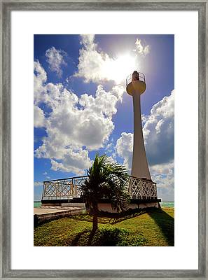 Framed Print featuring the photograph Baron Bliss Lighthouse - Fort George, Belize - Caribbean by Jason Politte