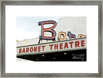 Baronet Theater Neon Lights Framed Print