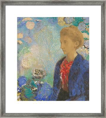 Baronne De Domecy  Framed Print by Odilon Redon