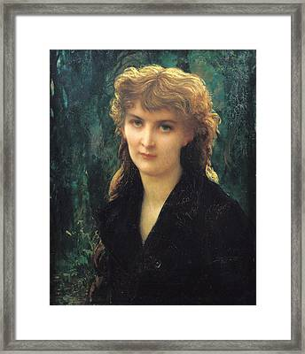 Baronness Eleonore Duckermann Framed Print by Antoine Auguste Ernest Hebert