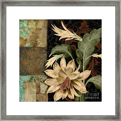 Baroque Cactus Orchid Patchwork Framed Print