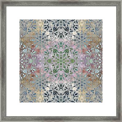 Baroque Multi Colored Mandala Framed Print by SharaLee Art