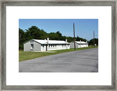 Framed Print featuring the photograph Barracks At Fort Miles - Cape Henlopen State Park by Brendan Reals
